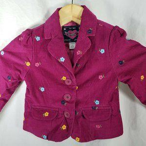 Baby Gap Girls Corduroy Jacket Toddler 3 Years 3T
